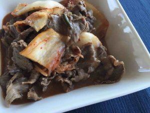 牛肉を使った餅キムチ