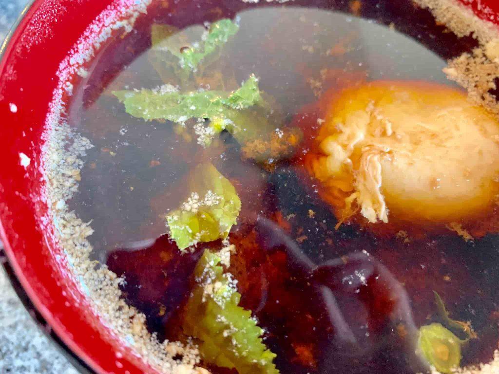 菜の花と卵の味噌汁 完成