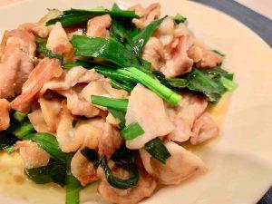 ニラ豚(ニラと豚肉の炒め物)