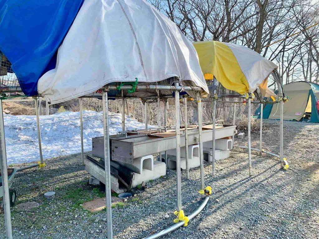 斑尾高原キャンピングパーク 炊事場 センターエリア