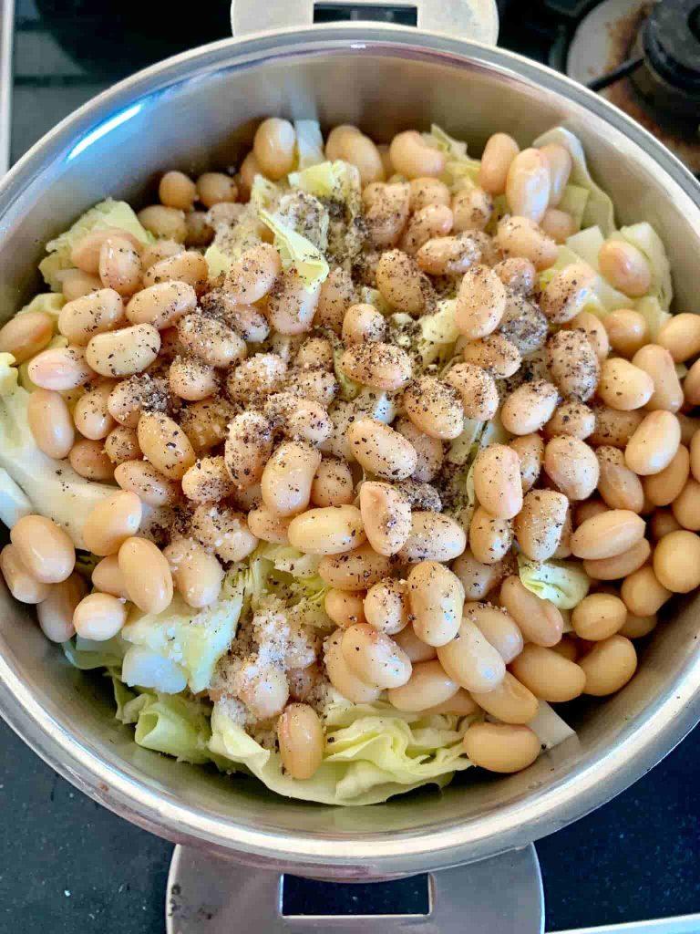 キャベツと大豆のビネガー煮