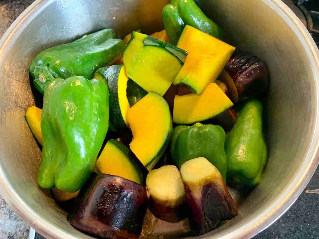 夏野菜のごろっと煮