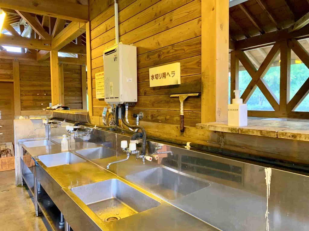 うるぎ星の森オートキャンプ場 炊事場