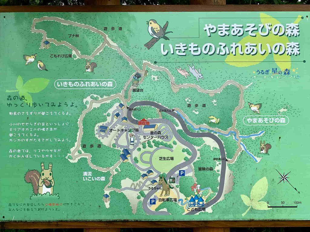 うるぎ星の森オートキャンプ場 サイトマップ