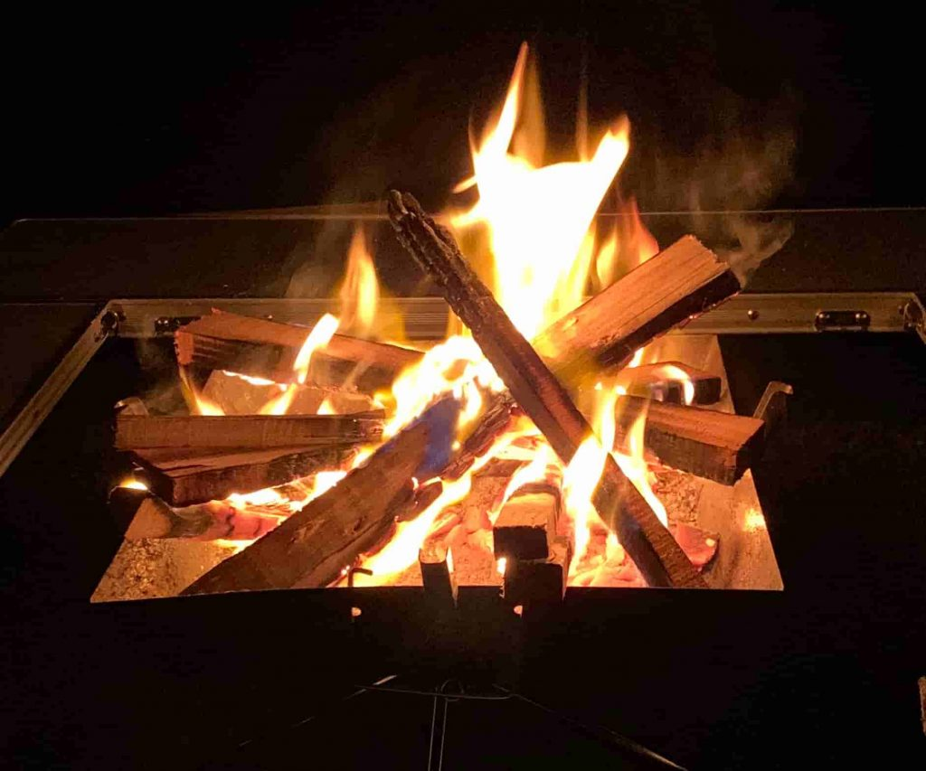 斑尾高原キャンピングパーク 焚き火