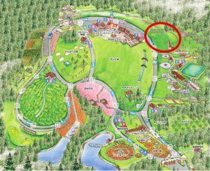 東京ドイツ村ジージの森ファミリーキャンプ 園内マップ