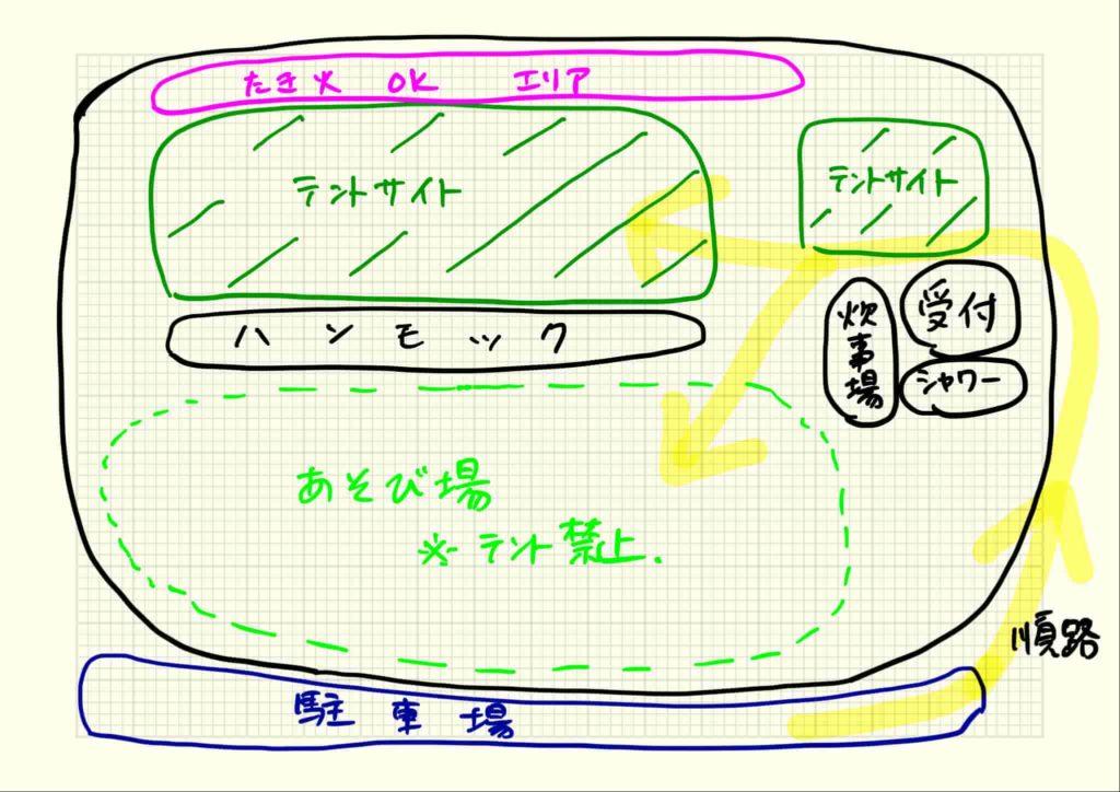 東京ドイツ村ジージの森ファミリーキャンプ サイトマップ