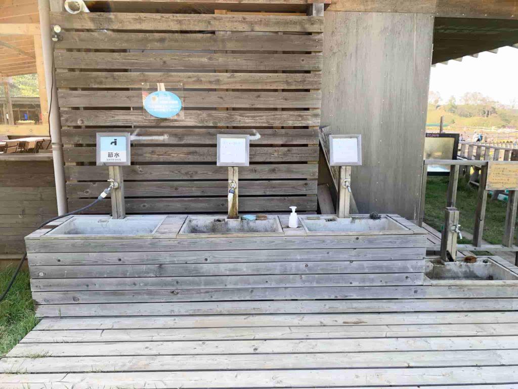 東京ドイツ村ジージの森ファミリーキャンプ 炊事場