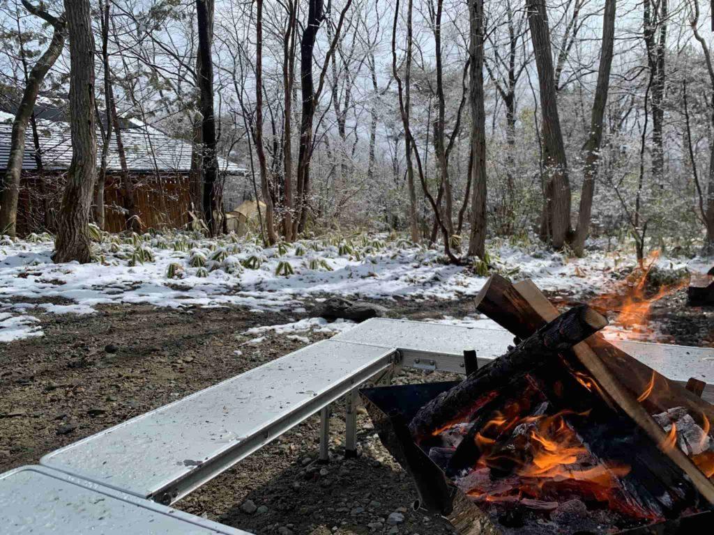 メープル那須高原キャンプグランド 焚き火