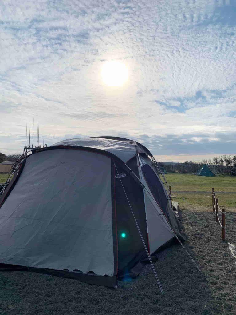 ソレイユの丘 オートキャンプ場 朝日
