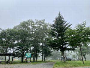 戸隠キャンプ場 フリーサイトの入口