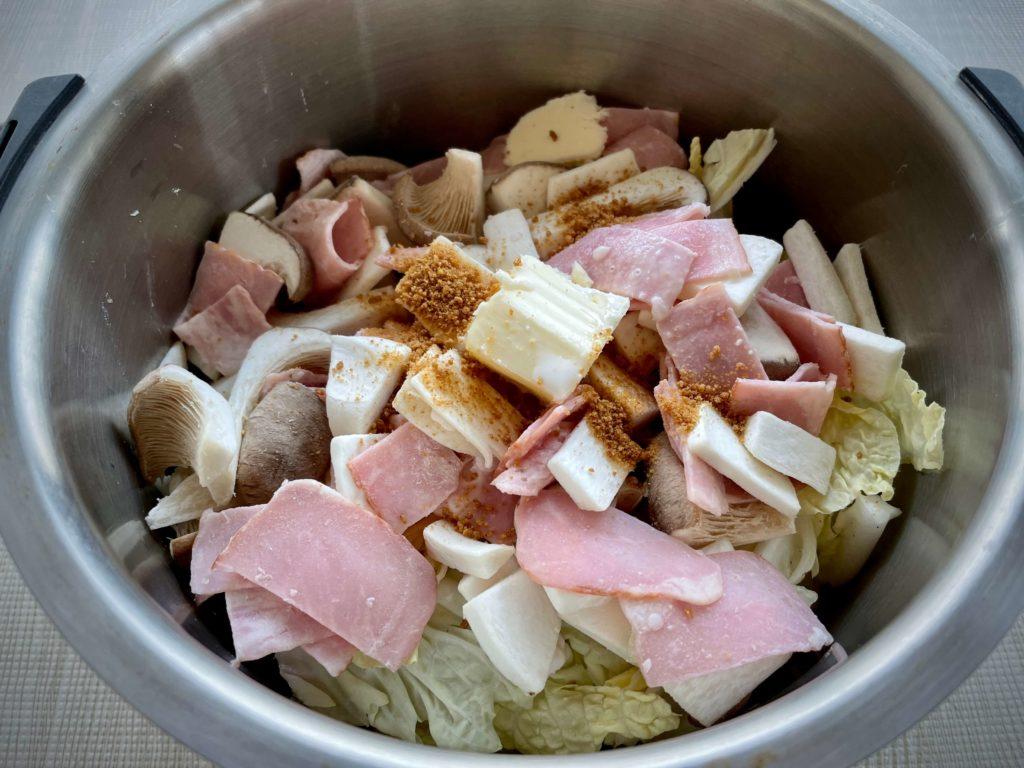 ホットクック 白菜のクリーム煮