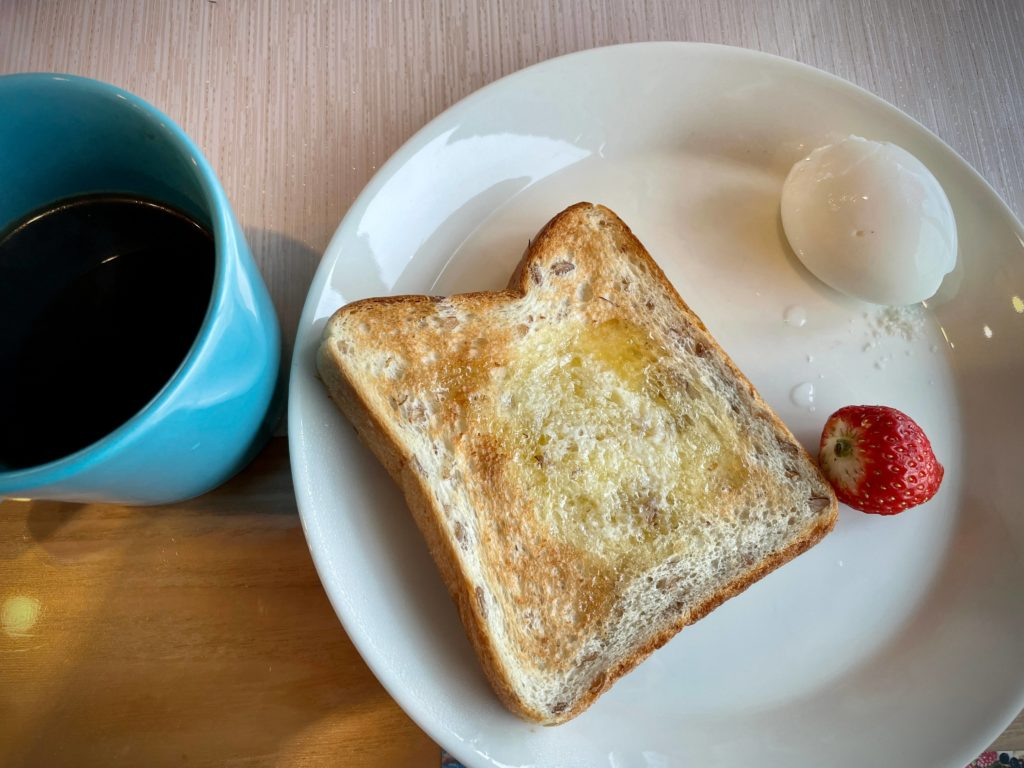 #Campion食堂 朝食 ゆで卵
