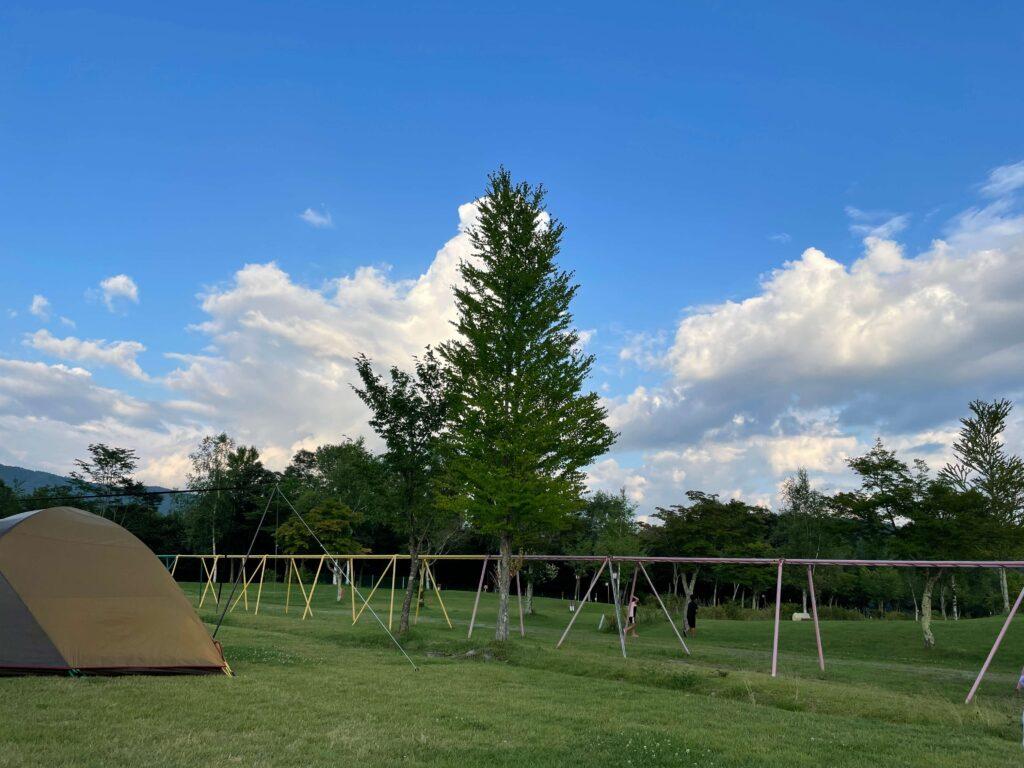 やぶはら高原こだまの森キャンプ場 雲梯